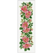 Counted Cross Stitch Charts -  Wild Roses Border