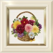 Counted Cross Stitch Charts -  Dahlia Basket