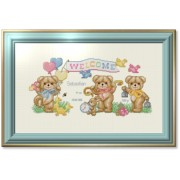 Counted Cross Stitch Charts - Beary Baby Announcement