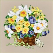 Counted Cross Stitch Charts -  Spring Basket