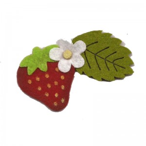 Felt Decorations - Strawberries with Leaf and Flower