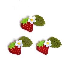 Decoraciones de Fieltro - Fresas con Flores
