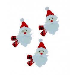 Decoraciones Navideñas de Fieltro - Cara de Papà Noel