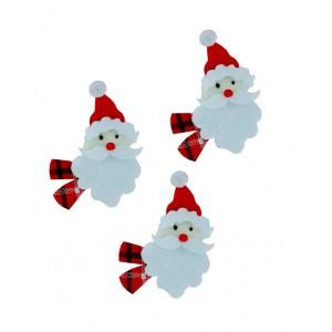 Decorazioni Natalizie in Feltro - Viso Babbo Natale