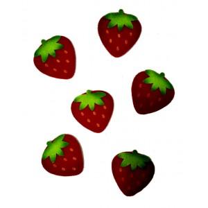 Decoraciones de Feltro - Fresas Grandes