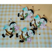 Felt Decorations - Bees with Flower