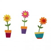 Felt Decorations - Colored Felt Sunflowers