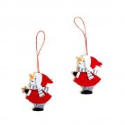 Christmas Ornaments - Felt Snowmen