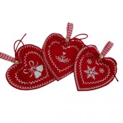 Christmas Felt Decorations - Norwegian Hearts