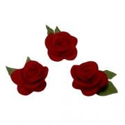 Flor de Fieltro - Rosas Rojas