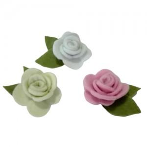 Flor de Fieltro - Rosas Romanticas