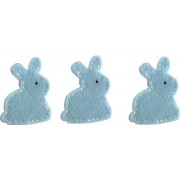 Felt Decoration - Bunny Light Blue