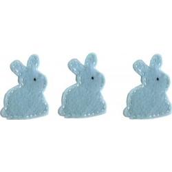 Felt Decoration - Bunny Light Blue
