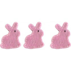Felt Decoration - Bunny Light Pink