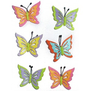 Felt Decoration - Colored Butterfly