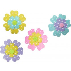 Felt Decoration - Colored Pois Flowers