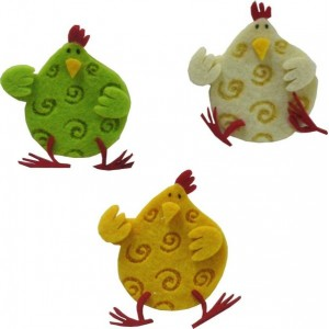Felt Decoration - Hens