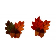 Felt Ornaments - Autumn Leaves with Acorns