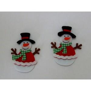 Decoraciones Navideñas de Fieltro - Muñeco de Nieve
