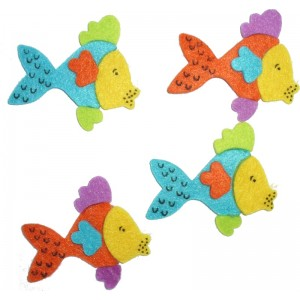 Felt Decoration - Colored Fish