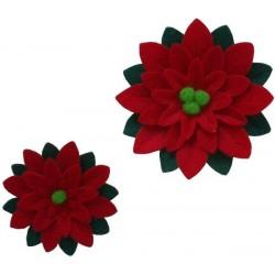Decoraciones Navideñas de Fieltro - Poinsetia