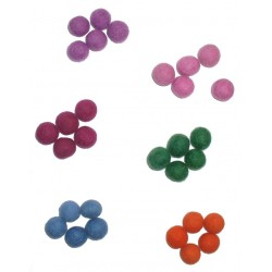 Colored Felt Beads 15 mm