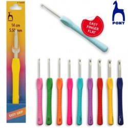 Pony Easy Finger Flat Crochet Hook - 3 mm