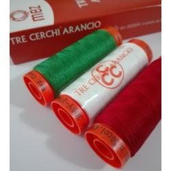 Filofort Tre Cerchi Arancio - Filato per Cucito Et. 50 - 274m