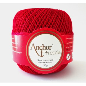 Anchor Freccia  Ovillo Colorado para Crochet  gr. 50-  n. 12