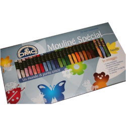 DMC - Mini Pack 25 skeins -Plastic Floss Bobbins - Embroidery Patterns