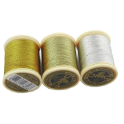 DMC - Metallic Embroidery Threads - Silver and Gold