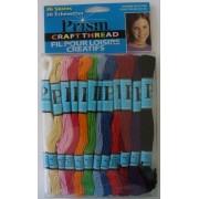 Prism Craft Thread - 36 Madejas de Tipo Perlé - Colores Primarios