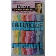 Prism Craft Thread - 36 Madejas de Tipo Perlé - Colores Pastel