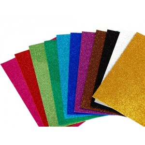 Glitter  Moosgummi Sheets 2mm - 20x30 cm