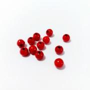 Piedras de Madera de Color Rojo - Tamano 6 mm