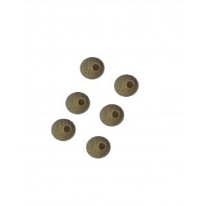 Perlas de Madera con Agujero - Diametro 10 mm