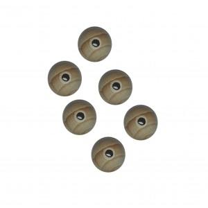 Perle di Legno con Foro - Dimensioni 2 cm