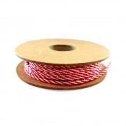 Cordòn Rojo y Blanco de 3 mm