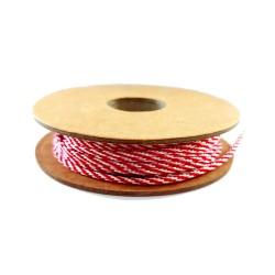 Cordoncino Colore Rosso e Bianco - 3 mm