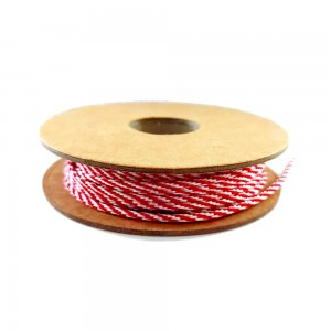 Band Bakers Twine - Red and White 3 mm