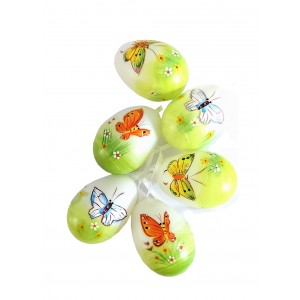 Easter Eggs Decorated with Butterflies