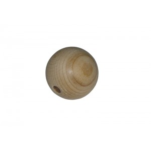Wood Bead with Hole - Diameter 40 mm