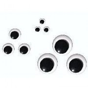 Movable Round Eyes - Size 4 mm