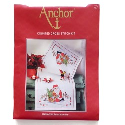 Anchor - Counted Cross Stitch Kit - Santa Claus Runner