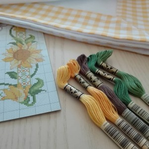 Kit Mantel de Mesa con Girasoles