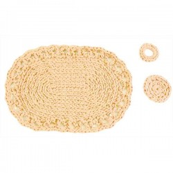 DMC - Kit Uncinetto - Set da Tavola - Piemonte - Beige