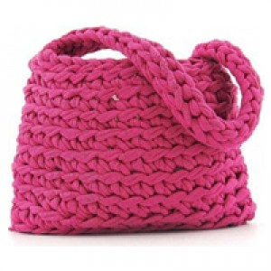 DMC - Kit Uncinetto - Hoooked Borsa Revisto - Fucsia