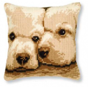 Vervaco - Dogs Cross Stitch Cushion