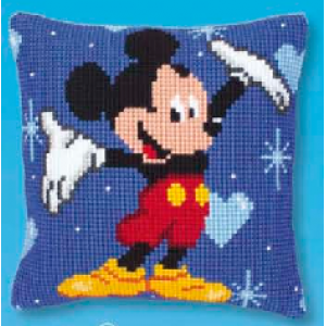 Vervaco - Kit Punto de Cruz - Almohada Disney Mickey Mouse