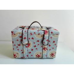 Sewing Box - Light Blue with Roses